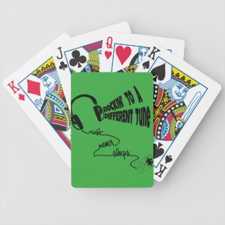 Rockin' to a Different Tune - Music Never Sleeps Poker Deck