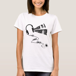 Rockin' to a Different Tune - Music Never Sleeps T-Shirt