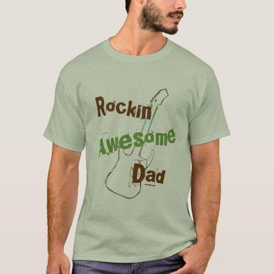 Rocking Awesome Dad T-Shirt
