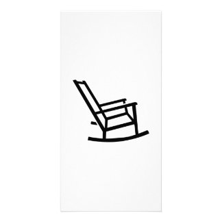 Rocking chair personalized photo card