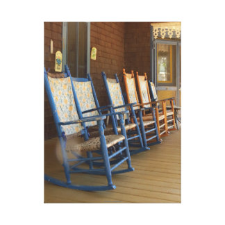 Rocking Chairs on Porch, Martha's Vineyard Cottage Canvas Print