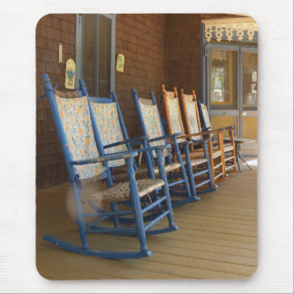 Rocking Chairs on Porch, Martha's Vineyard Cottage Mouse Pad