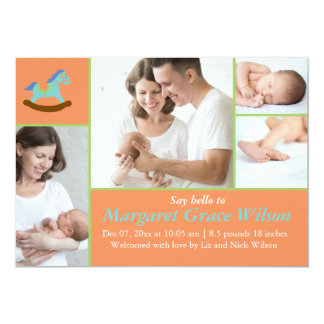 Rocking Horse Baby Announcement