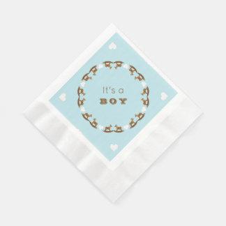 Rocking Horse Baby Shower Its a Boy Napkins Paper Napkin