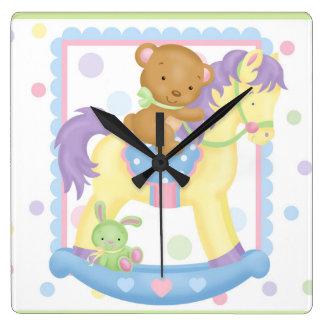 Rocking Horse Baby Wall Clock