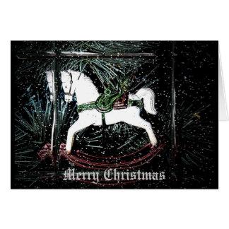 Rocking Horse Christmas Card