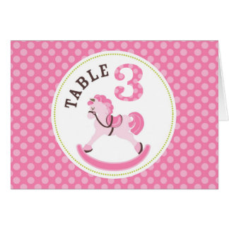 Rocking Horse Girl Table Card 3