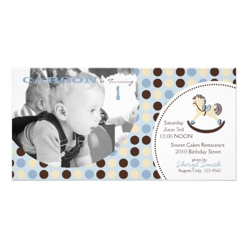Rocking Horse Invitation Photo Card