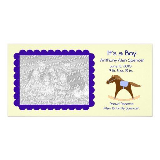 Rocking Horse It's a Boy Photo Card