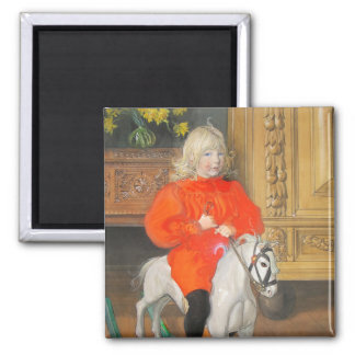Rocking Horse Lucia Day Magnet