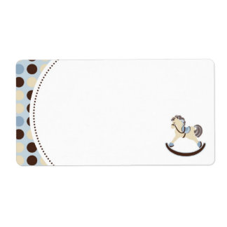 Rocking Horse Name Tag Shipping Label
