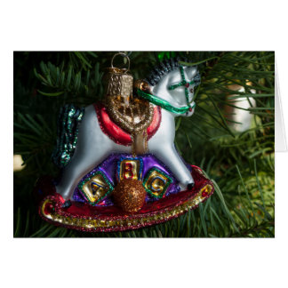 Rocking Horse Ornament Card