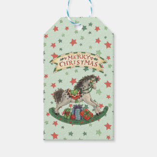 Rocking Horse Pack Of Gift Tags