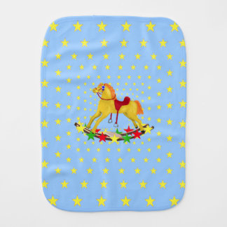 Rocking Horse Riding the Stars Burp Cloth