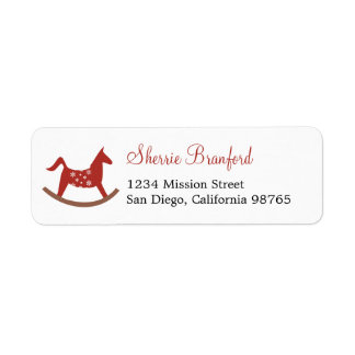 Rocking horse toy Christmas holiday return address Return Address Label