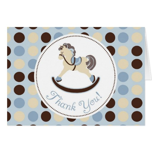 Rocking Horse TY Card