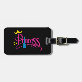 Rocking Princess Luggage Tag