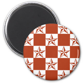Rocking Red Stars 2 Inch Round Magnet