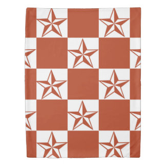 Rocking Red Stars Duvet Cover