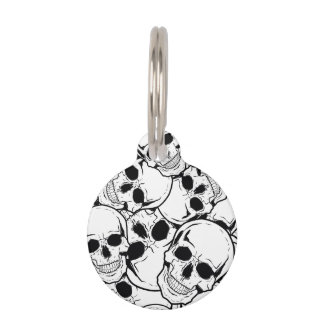 Rocking Skull Pet Name Tag