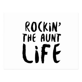 Rocking the aunt life family parent dad mom postcard