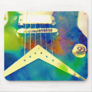 Rocking The Blues Guitar Mouse Pad