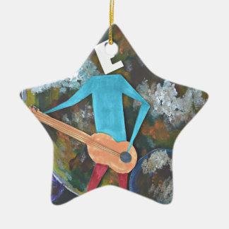 Rocking the cosmos ceramic ornament