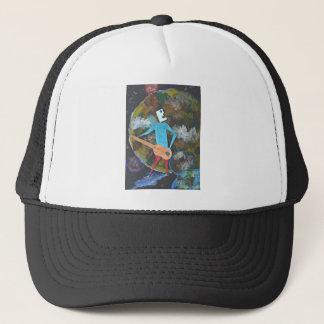 Rocking the cosmos trucker hat