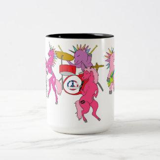 Rocking Unicorn Band Two-Tone Coffee Mug