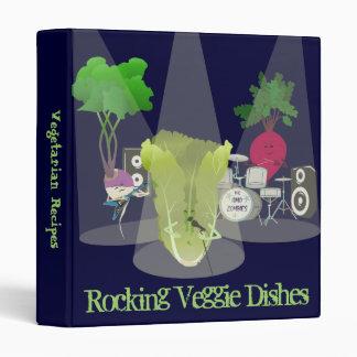 Rocking Veggie Dishes Recipe Binder 1.5 Inch
