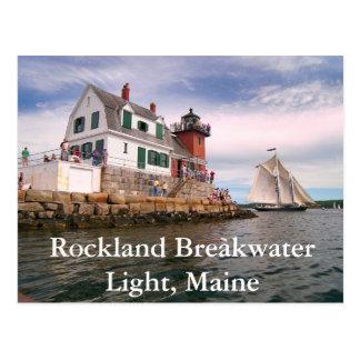 Rockland Breakwater Light, Maine Postcard