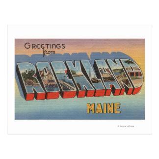 Rockland, Maine - Large Letter Scenes Postcard