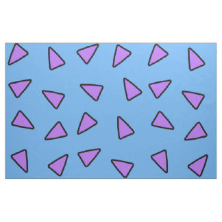 Rocko Style Geometric Triangles Blue and Purple Fabric