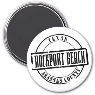 Rockport Beach Title 3 Inch Round Magnet
