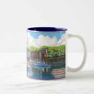 Rockport MA Two-Tone Coffee Mug