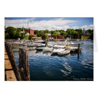 Rockport Maine Harbor Card