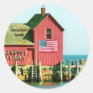 ROCKPORT, MASS ROUND STICKER