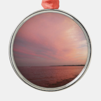 Rockport Sunset Silver-Colored Round Ornament