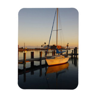 Rockport, Texas harbor at sunset Rectangular Photo Magnet