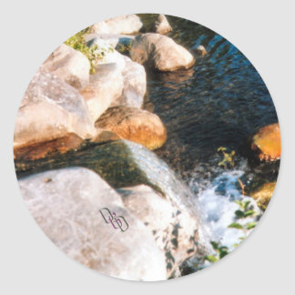 Rocks and Falls Classic Round Sticker