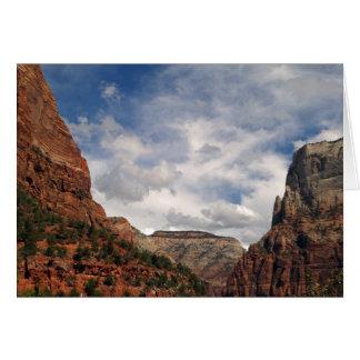 Rocks and Sky Zion National Park Utah Blank Card