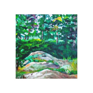 Rocks and trees canvas print