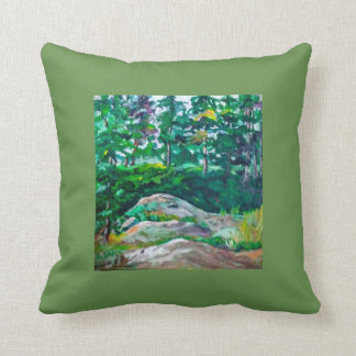 Rocks and trees throw pillow