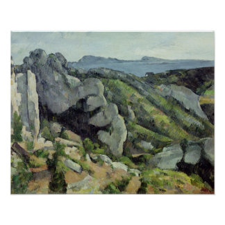 Rocks at L'Estaque, 1879-82 Poster