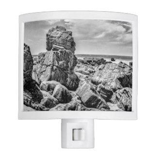 Rocks at Shore in Praia Malhada Jericoacoara Brazi Night Lights
