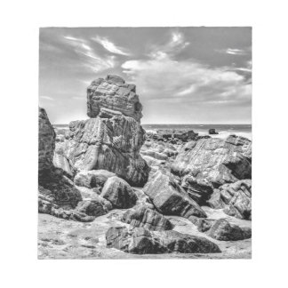 Rocks at Shore in Praia Malhada Jericoacoara Brazi Notepad