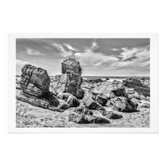 Rocks at Shore in Praia Malhada Jericoacoara Brazi Photo Print
