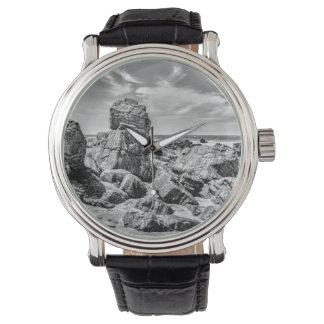 Rocks at Shore in Praia Malhada Jericoacoara Brazi Wristwatch