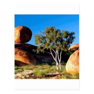 Rocks Balancing Northern Territory Australia Postcard