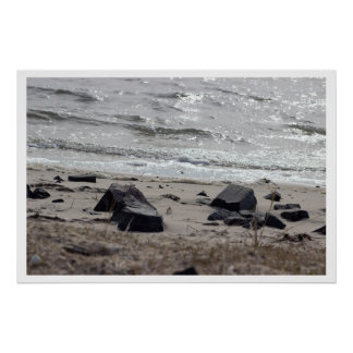 Rocks by the Shore Poster